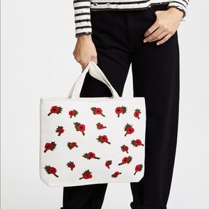 Banner day British poppies tote nwot